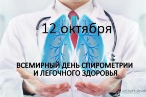 12 октября – «Всемирный деньспирометрии и легочного здоровья»
